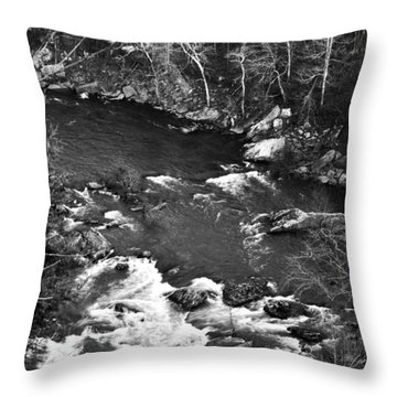 Little River Rapids Throw Pillow