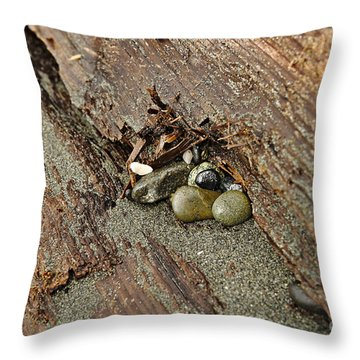 Throw Pillow featuring the photograph Little Rocks by Cendrine Marrouat