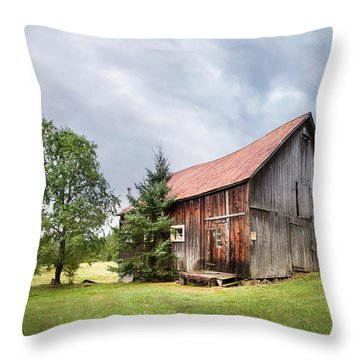 Throw Pillow featuring the photograph Little Rustic Barn, Adirondacks by Gary Heller
