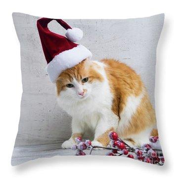 Little Santa Helper II Throw Pillow