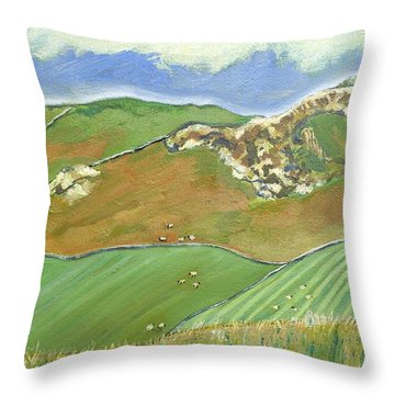 North Of The Coast Road Throw Pillow