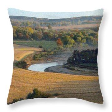 Little Sioux Autumn Sunrise Throw Pillow