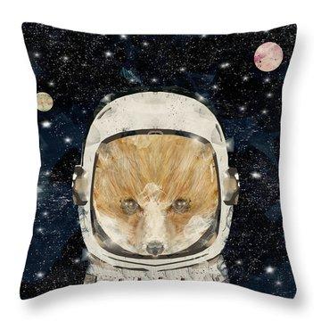 Little Space Fox Throw Pillow