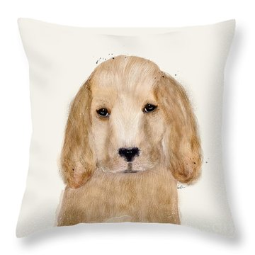 Throw Pillow featuring the painting Little Spaniel by Bri B
