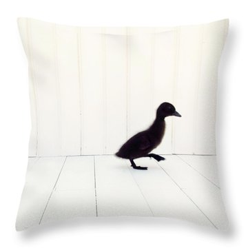 Throw Pillow featuring the photograph Little - Square Version by Amy Tyler
