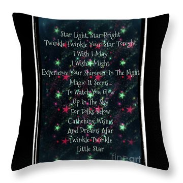 Little Star  Throw Pillow by Sherry Flaker