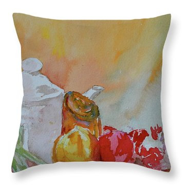Throw Pillow featuring the painting Little Still Life by Beverley Harper Tinsley