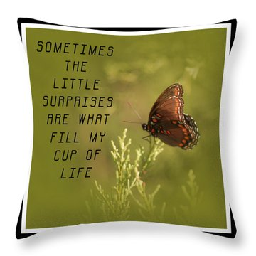 Little Surprises Throw Pillow