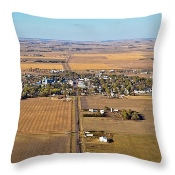 Little Town On The Prairie Throw Pillow