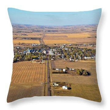Little Town On The Prairie Throw Pillow
