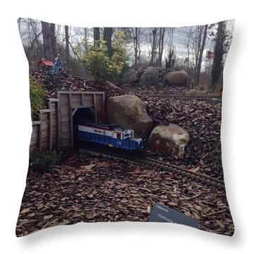 Little Train Tunnel Throw Pillow