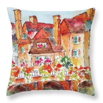 Little Venice Colmar France Throw Pillow