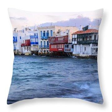 Little Venice Sunrise Throw Pillow
