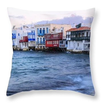 Little Venice Sunrise Throw Pillow