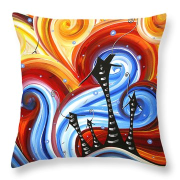 Little Village By Madart Throw Pillow by Megan Duncanson