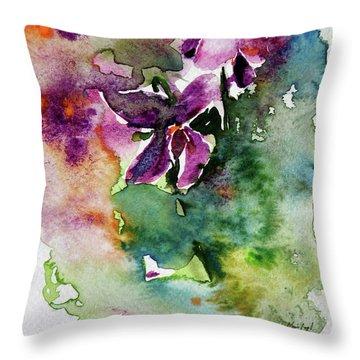 Little Violet Throw Pillow by Kovacs Anna Brigitta