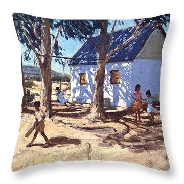 Little White House Karoo South Africa Throw Pillow