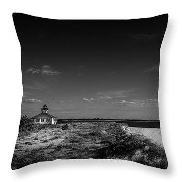 Little White Lighthouse Bw Throw Pillow