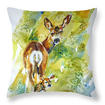 Little Wobbley Throw Pillow