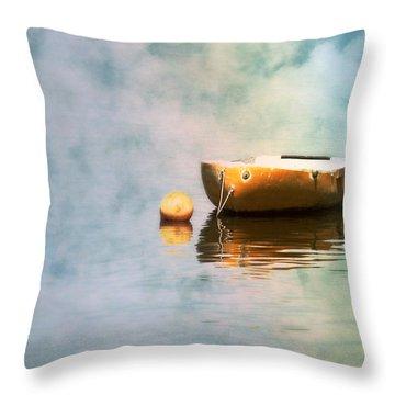 Little Yellow Boat Throw Pillow