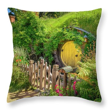 Little Yellow Door Throw Pillow