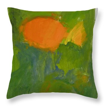 Throw Pillow featuring the painting Little Yellowtail  by Cliff Spohn