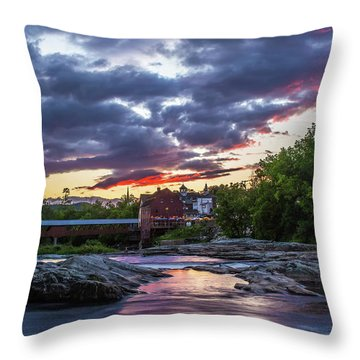 Littleton Sunset On The Rocks Throw Pillow