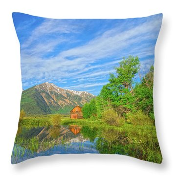 Live As Though You Will Die Tomorrow. Learn As Though You Will Live Forever.  Throw Pillow