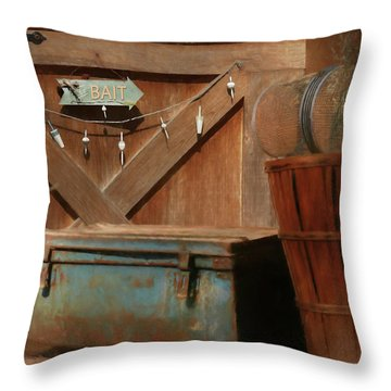 Throw Pillow featuring the photograph Live Bait by Lori Deiter