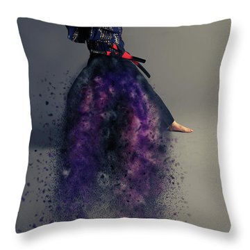 Live By The Sword Throw Pillow