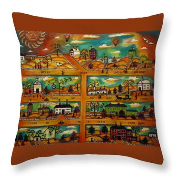 Live In The Light Throw Pillow by Regina Brandt