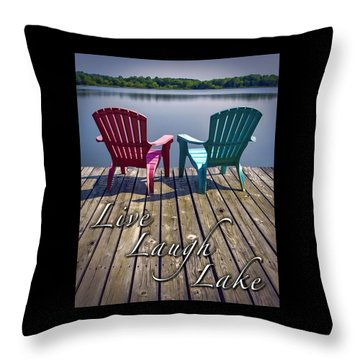 Live Laugh Lake Throw Pillow
