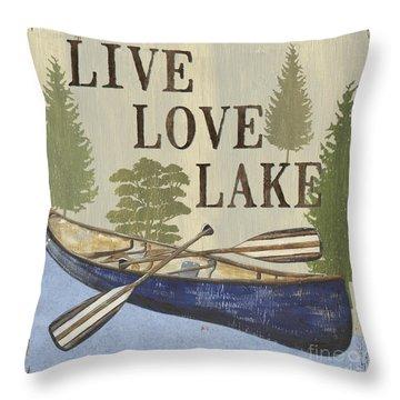 Live, Love Lake Throw Pillow