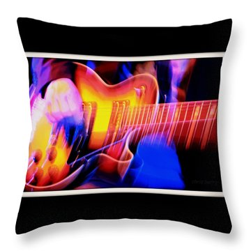 Throw Pillow featuring the photograph Live Music by Chris Berry