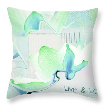 Throw Pillow featuring the photograph Live N Love - Absf15 by Variance Collections