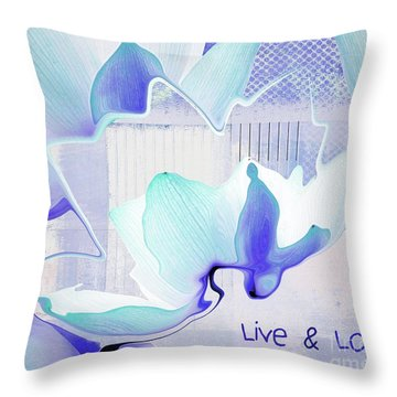 Throw Pillow featuring the photograph Live N Love - Absf43 by Variance Collections