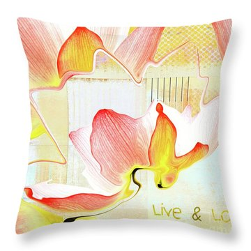 Throw Pillow featuring the photograph Live N Love - Absf44b by Variance Collections