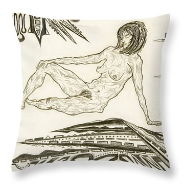 Live Nude 4 Female Throw Pillow