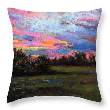 Live Oak Evening Throw Pillow