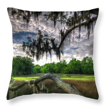 Live Oak Marsh View Throw Pillow