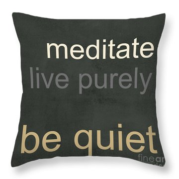 Live Purely Throw Pillow
