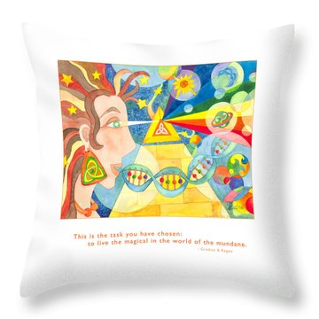 Throw Pillow featuring the painting Live The Magical by Kristen Fox