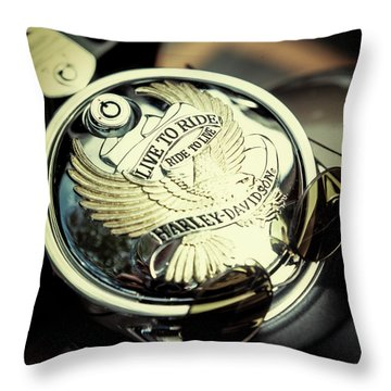 Throw Pillow featuring the photograph Live To Ride by Samuel M Purvis III