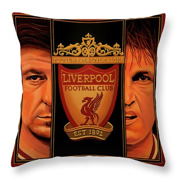 Liverpool Painting Throw Pillow
