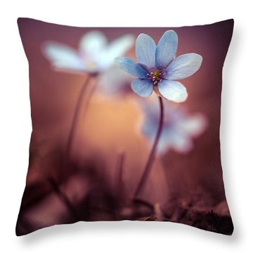 Liverworts Throw Pillow