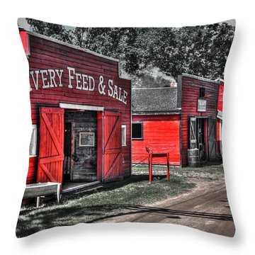Livery Feed Throw Pillow