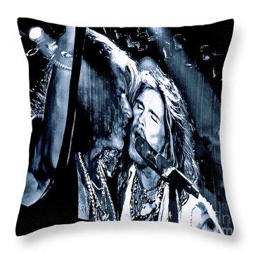 Livin On The Edge. Aerosmith Live Throw Pillow
