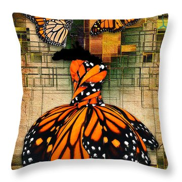 Throw Pillow featuring the mixed media Living A Life With No Boundaries by Marvin Blaine