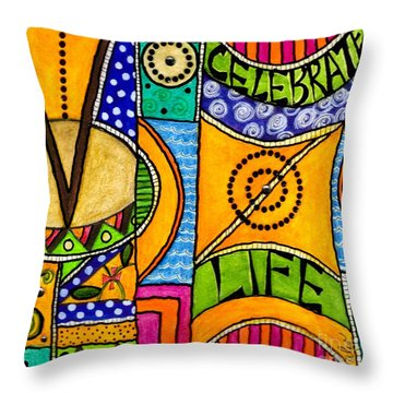 Living A Vibrant Life Throw Pillow by Angela L Walker