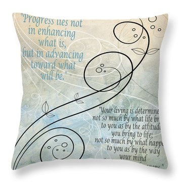Throw Pillow featuring the digital art Living by Angelina Vick